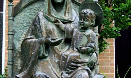 Maria Fecioara statuie
