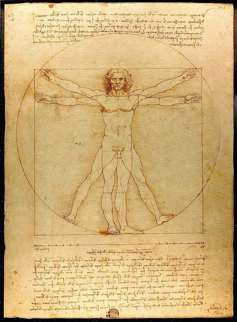Desen de Leonardo Da Vinci, Wikipedia.
