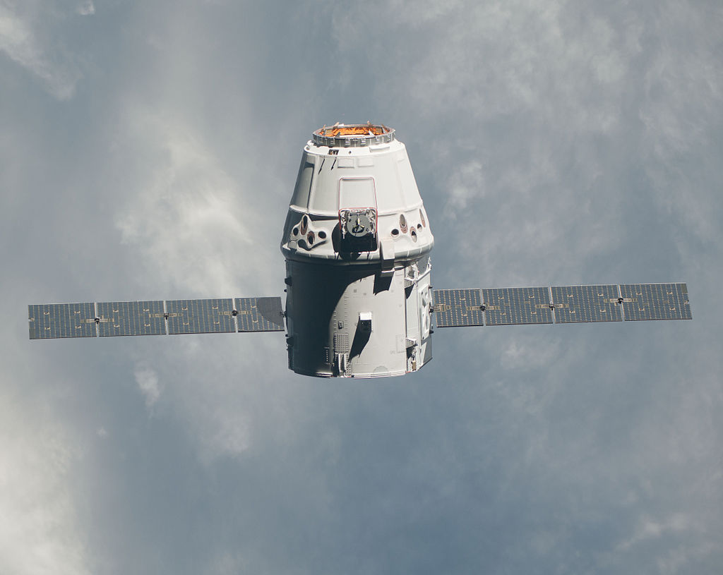 The SpaceX Dragon, sursa NASA, Wikipedia.