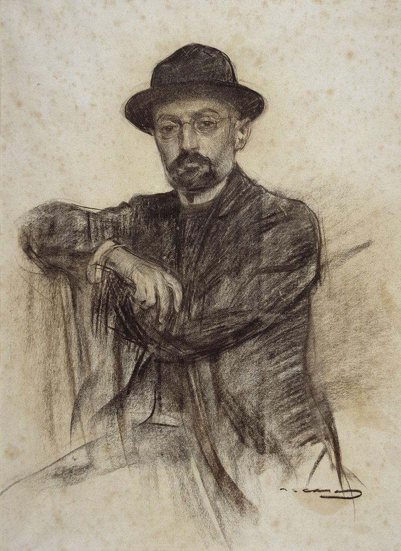 Portret de Ramon Casas conservat laMNAC în Barcelona. Sursă Wikipedia.