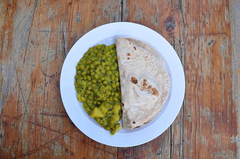 Chapati. Autor foto Roland zh, Wikipedia.