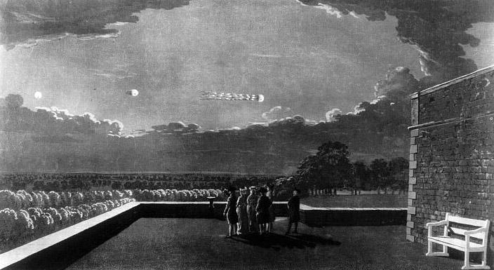 Un OZN privit de la castelul Windsor din Londra  în 1783.